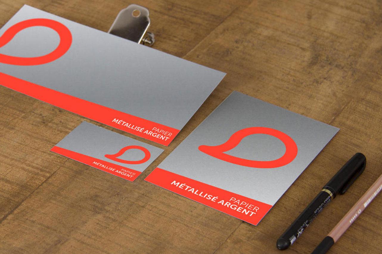 carte-de-visite-papier-argent-metalise